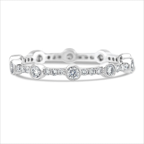 Beverley K Scattered Bezel Set Diamond Band