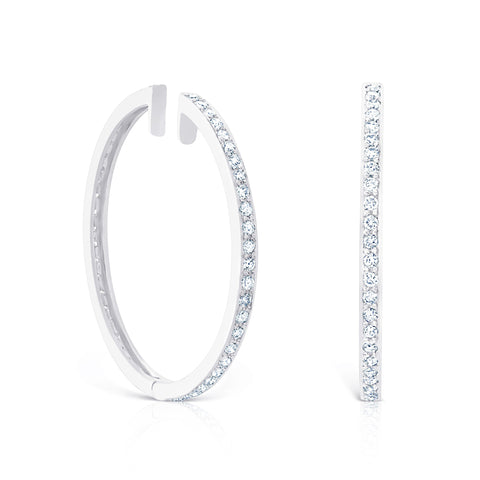 LARGE PAVE HOOPS