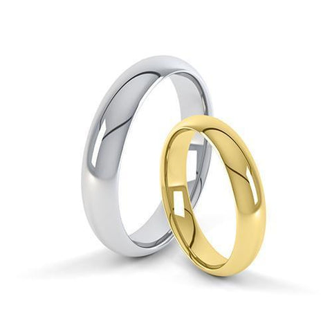 Paris Profile - Full Court Wedding Ring - T Finger Size, 18ct-yellow-gold Metal, 5 Width
