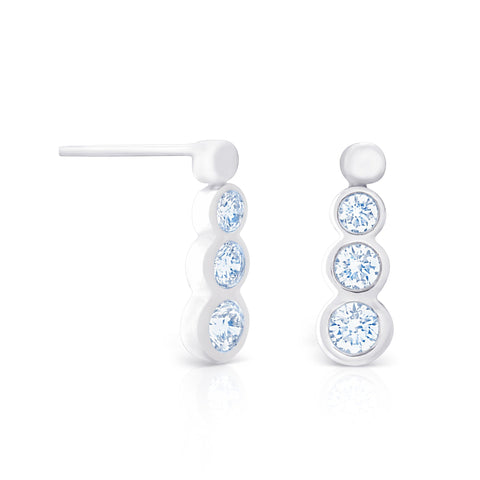 PETITE BEZEL DROP EARRINGS