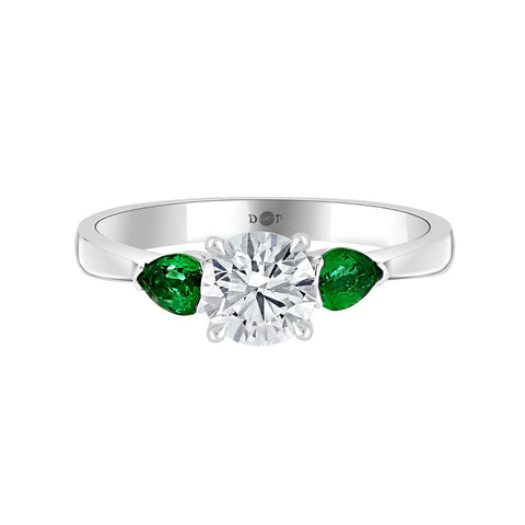 French Riviera with Pear Cut Emeralds