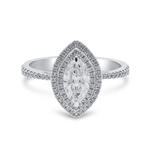 Marquise Double Halo