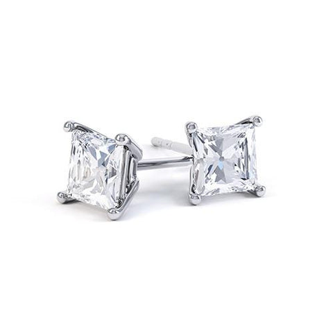 AMERIE PRINCESS CUT STUD EARRINGS