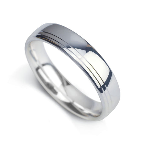 Gents Wedding Band Design 11 - M Finger Size, platinum Metal, 4 Width