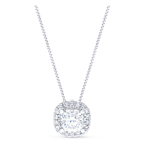 FOREVERMARK™ CUSHION HALO PENDANT