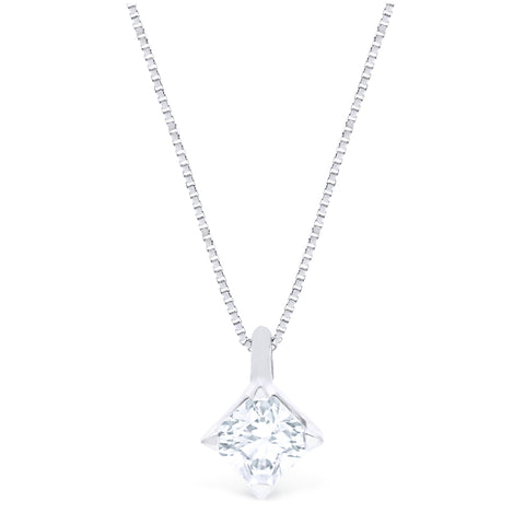FOREVERMARK™ IDEAL SQUARE SOLITAIRE PENDANT
