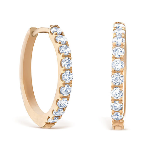 HUGGIE HOOPS 18K ROSE GOLD