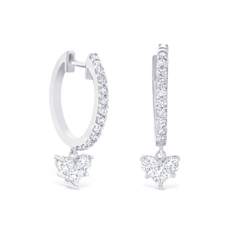 PETITE HEART DROP EARRINGS