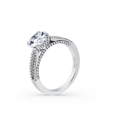 KIRK KARA STELLA K1030DE-R - G Finger Size, 18ct-white-gold Metal, 0.7 Ct Diamond (85481444)