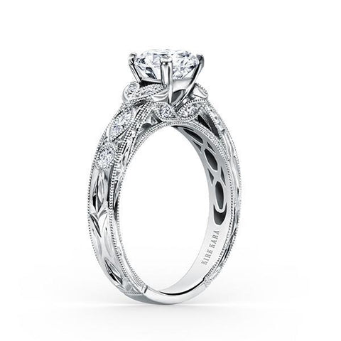 Kirk Kara Dahlia K1120DC-R - Q Finger Size, 18ct-white-gold Metal, 0.3 Ct Diamond (97377840)