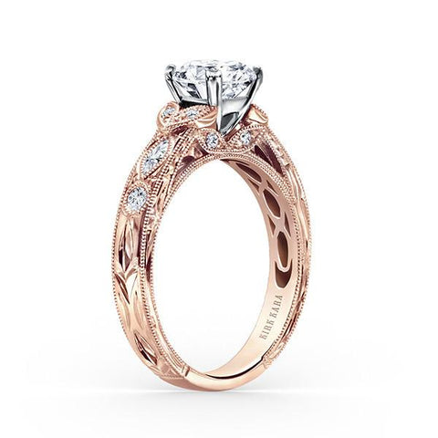 Kirk Kara - Dahlia K1120DCP-R - J Finger Size, 18ct-rose-gold Metal, 0.29 Ct Diamond (80506140)