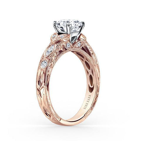 Kirk Kara Dahlia K1120DCP-R - Q Finger Size, 18ct-rose-gold Metal, 0.3 Ct Diamond (97377840)