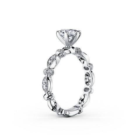KIRK KARA DAHLIA K1270DC-R - G Finger Size, 18ct-white-gold Metal, 0.28 Ct Diamond (84330553)