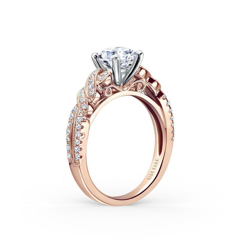 KIRK KARA PIROUETTA K133RR - K Finger Size, 18ct-yellow-gold Metal, 0.3 Ct Diamond (106576794)