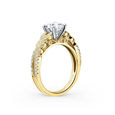 KIRK KARA PIROUETTA K133RY - H Finger Size, 18ct-yellow-gold Metal, 0.3 Ct Diamond (82405393)