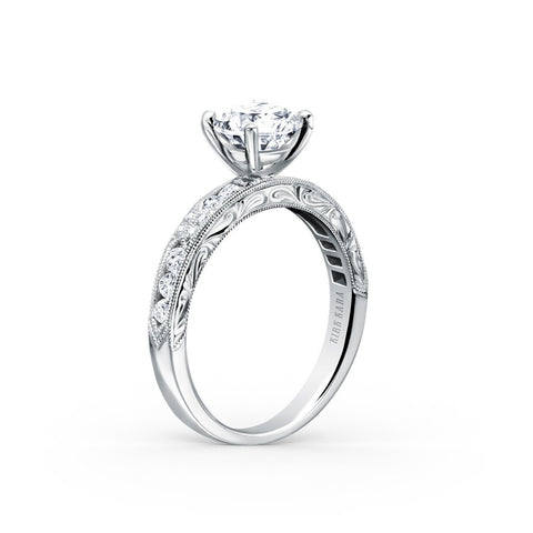 KIRK KARA CHARLOTTE K1390D-R - K Finger Size, 18ct-white-gold Metal, 0.54 Ct Diamond (99311869)