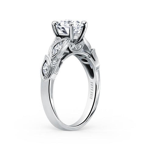 Kirk Kara Dalia K155R - M Finger Size, 18ct-white-gold Metal, 0.3 Ct Diamond (93686068)