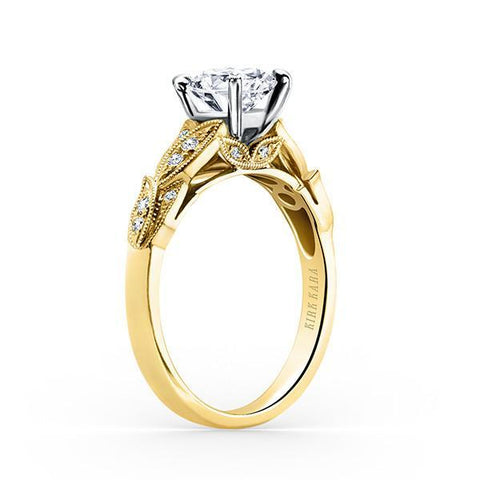 Kirk Kara Dahlia K1120SDCY-R - G Finger Size, 18ct-rose-gold Metal, 0.6 Ct Diamond (88108523)