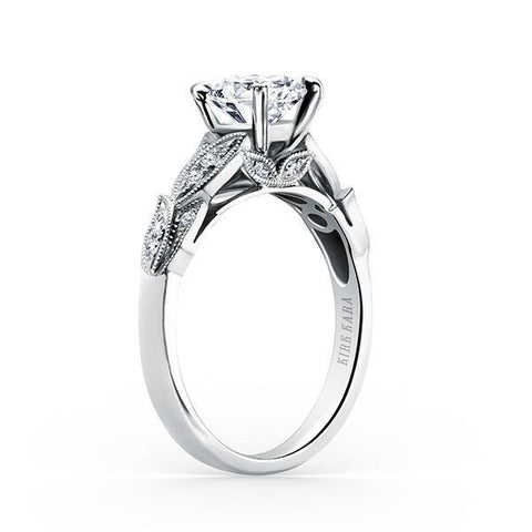 Kirk Kara Dahlia K156R - N Finger Size, 18ct-white-gold Metal, 0.25 Ct Diamond (85459732)