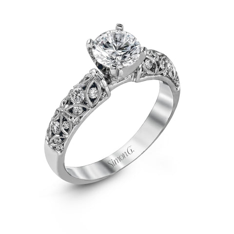Simon G Delicate Floral Diamond Band