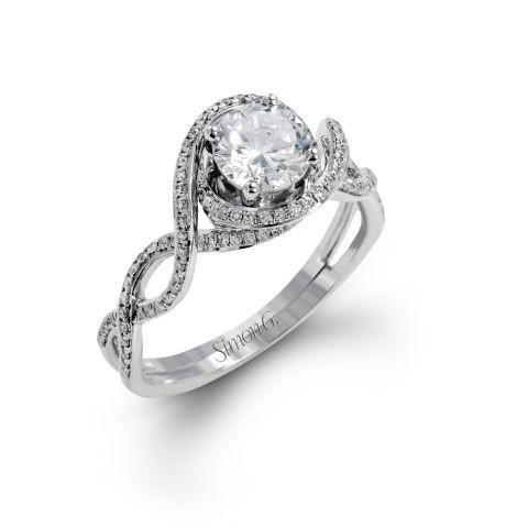 Simon G Passion Twist Diamond Halo and Band