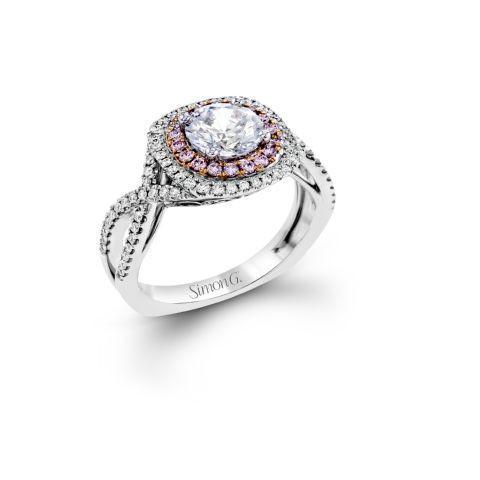 ESQUISITE PINK DIAMOND HALO - G Finger Size, 18ct-white-gold Metal, 0.25 Ct Diamond (85459732)