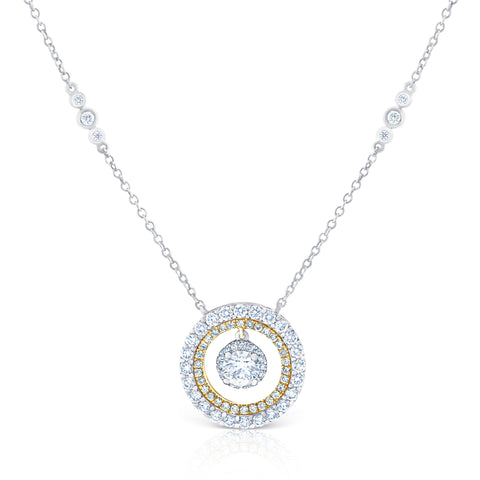 Round Double Halo Pendant