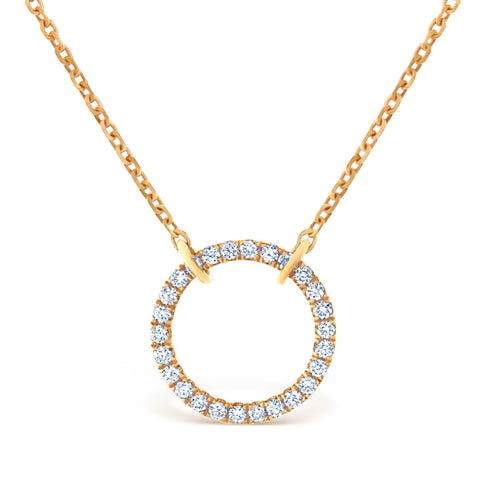 Halo Rose Gold Pendant £1000