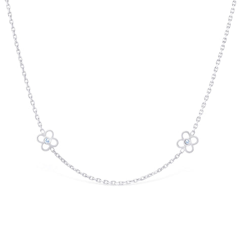 Long Flower Chain Necklace