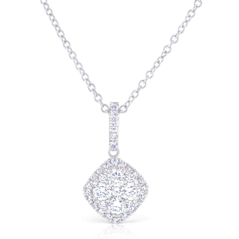 Diamond Shape Cluster Pendant