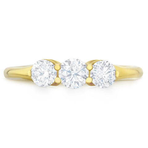 The Trilogy Yellow Gold - G Finger Size, 18ct-yellow-gold Metal, 0.3 Ct Diamond (114486448)