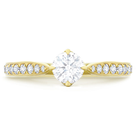 Fiji Pave Yellow Gold - G Finger Size, 18ct-yellow-gold Metal, 0.25 Ct Diamond (117527681)