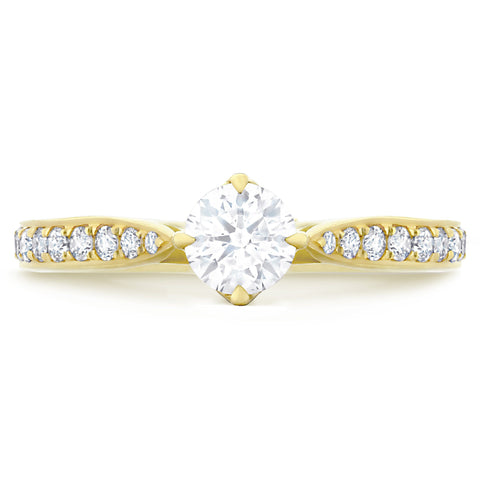 Fiji Pave Yellow Gold - G Finger Size, 18ct-yellow-gold Metal, 0.8 Ct Diamond (104481057)
