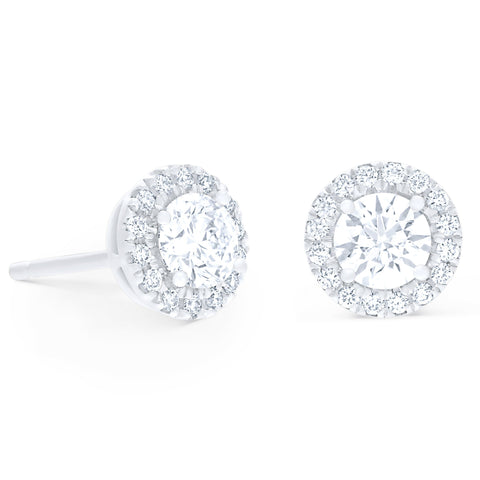 Round Halo Stud Earrings £1000