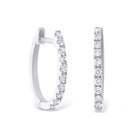 Petite White Gold Hoops £700