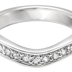 Shaped Pave Set Diamond Band