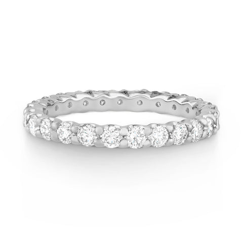 Claw Set Round Diamond Band