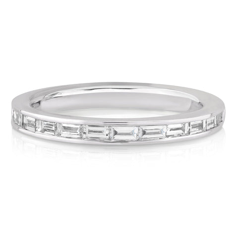 CHANNEL SET horizontal BAGUETTE DIAMOND BAND