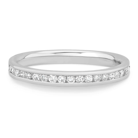 CHANNEL SET ROUND DIAMOND BAND