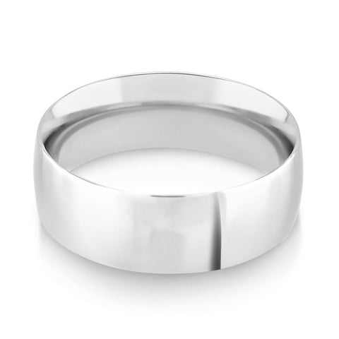 Court Profile Wedding Ring - G Finger Size, 18ct-white-gold Metal, 2 Width