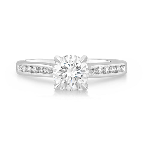 St Tropez Channel - G Finger Size, 18ct-white-gold Metal, 0.3 Ct Diamond (59622682)