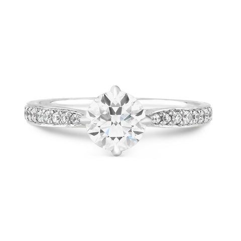 Fiji Pave - G Finger Size, 18ct-white-gold Metal, 0.7 Ct Diamond (82617233)