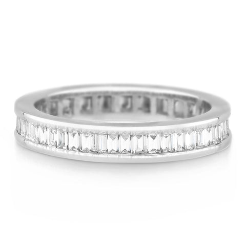 channel set baguette diamond band £2,500