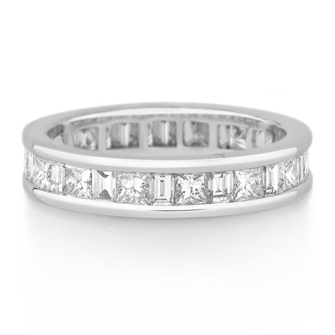 Channel Set Princess & Baguette Diamond Band