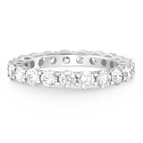 classic claw set round brilliant diamond band