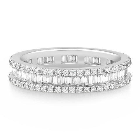 Round & Baguette Diamond Band £3800