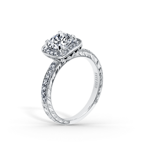 Kirk Kara Carmella K1450DC-R - G Finger Size, 18ct-white-gold Metal, 0.26 Ct Diamond (85838873)