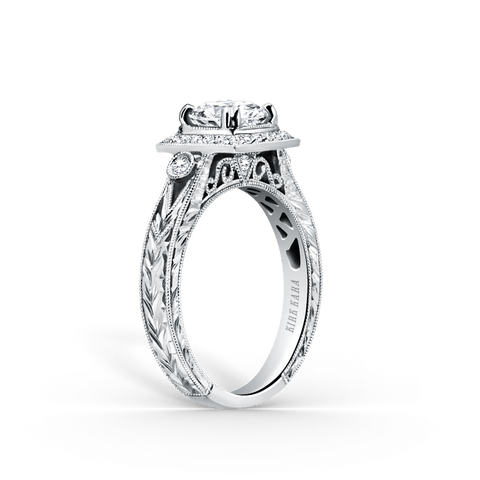 Kirk Kara Carmella K183C65R - H Finger Size, 18ct-white-gold Metal, 0.28 Ct Diamond (84330553)