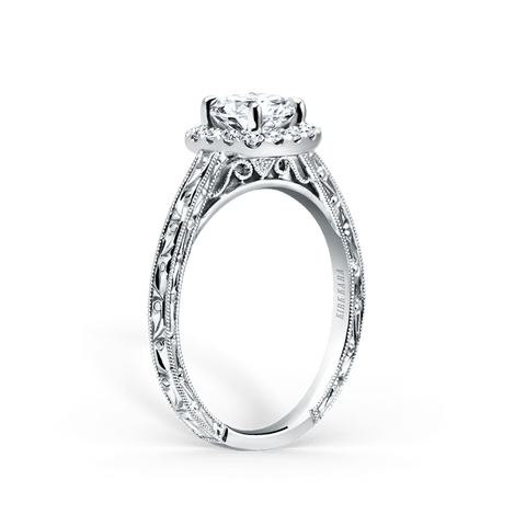 Kirk Kara Carmella K184NEC6R - G Finger Size, 18ct-white-gold Metal, 0.25 Ct Diamond (85459732)