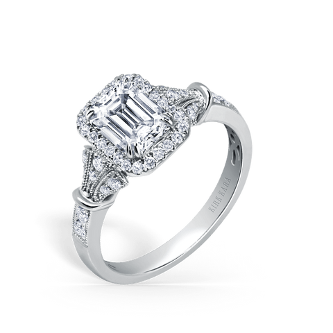 Kirk Kara Lori K195E7X5L - G Finger Size, 18ct-yellow-gold Metal, 0.4 Ct Diamond (97158899)